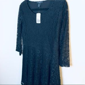 Forever 21 Black Lace Dress Quarter Length sleeves